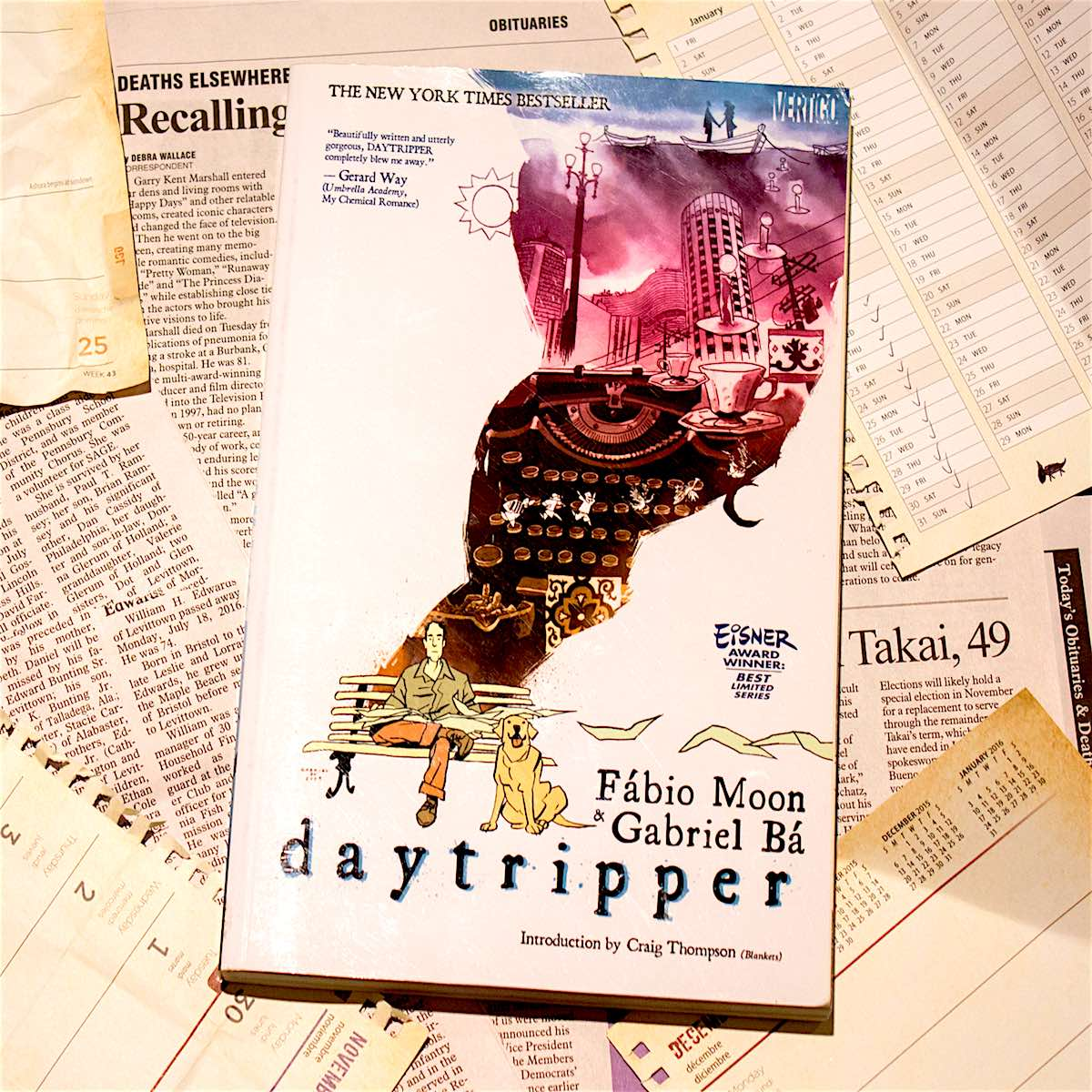 Moon and Bá's Daytripper is a masterful novel by any metric