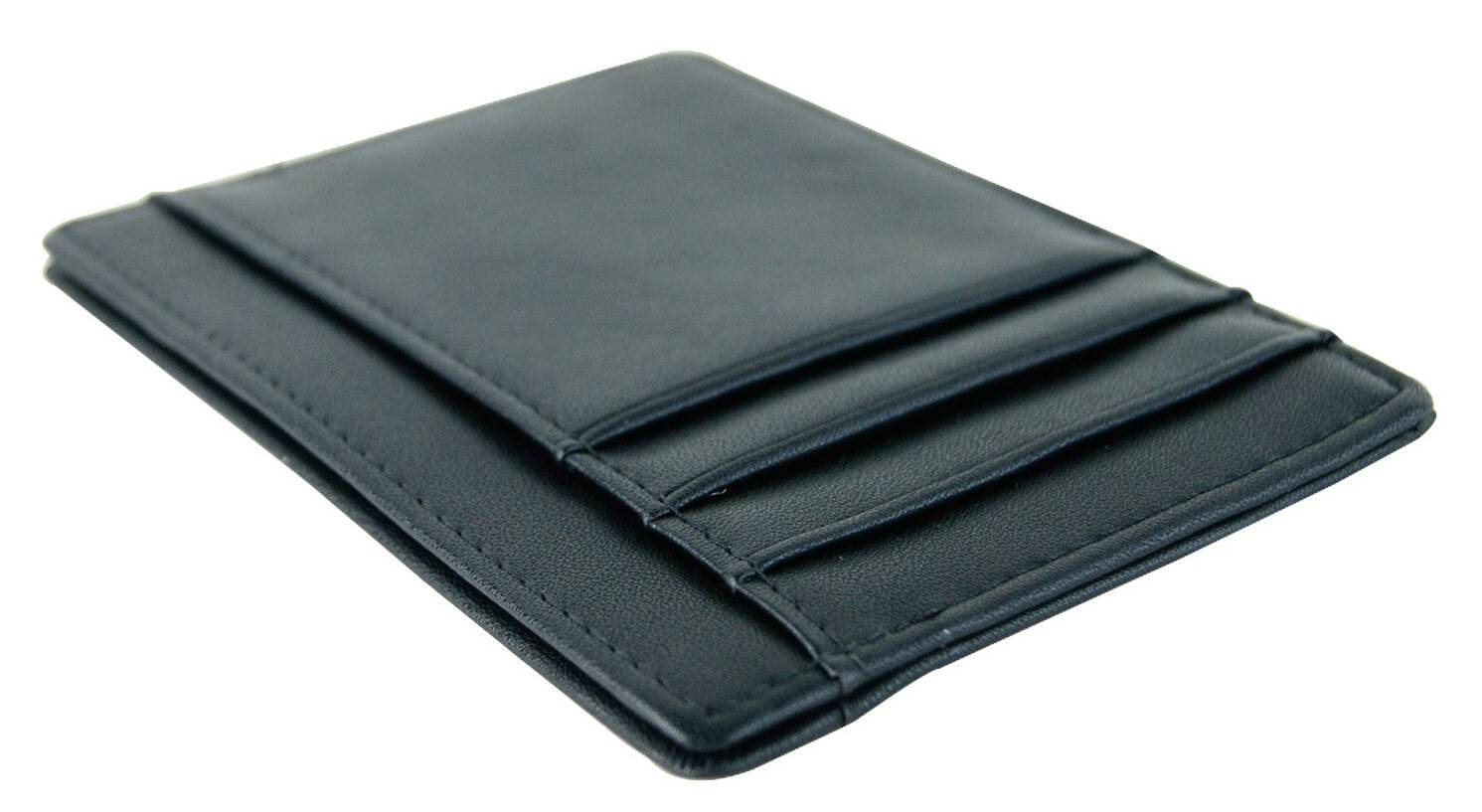 Minimalist leather slim front pocket wallet