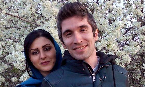 Iranian writer Golrokh Ebrahimi Iraee and her husband, Arash Sadeghi, who is already serving. Photograph: Facebook