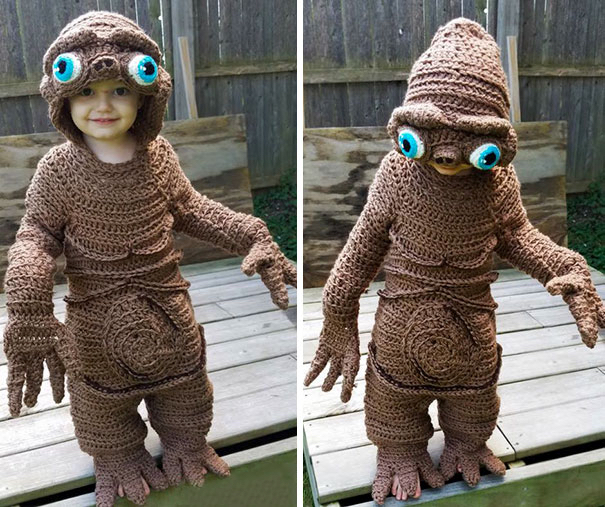 fantastic hand crocheted et costume for 2 year old