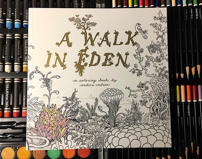 A Walk in Eden Anders Nilsen's surrealist paradise is a haunting adult coloring book