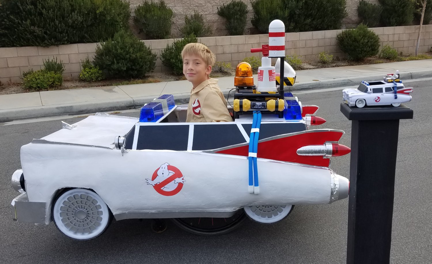 This Ghostbusters Ecto1 Wheelchair Halloween Costume is Totally Amazing