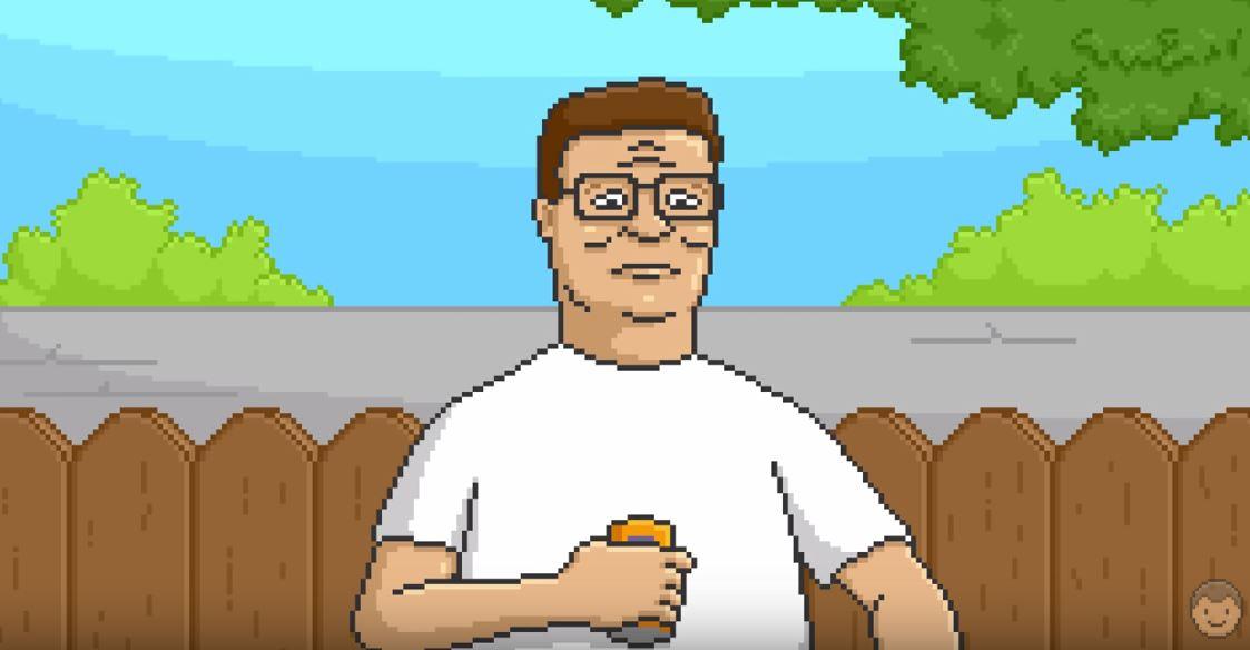 pixel art hank hill