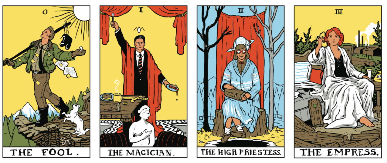 Twin Peaks tarot cards / Boing Boing