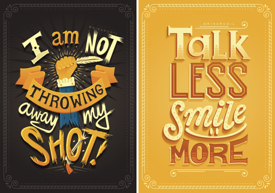 hand lettered posters turn hamilton lyrics into works of art boing