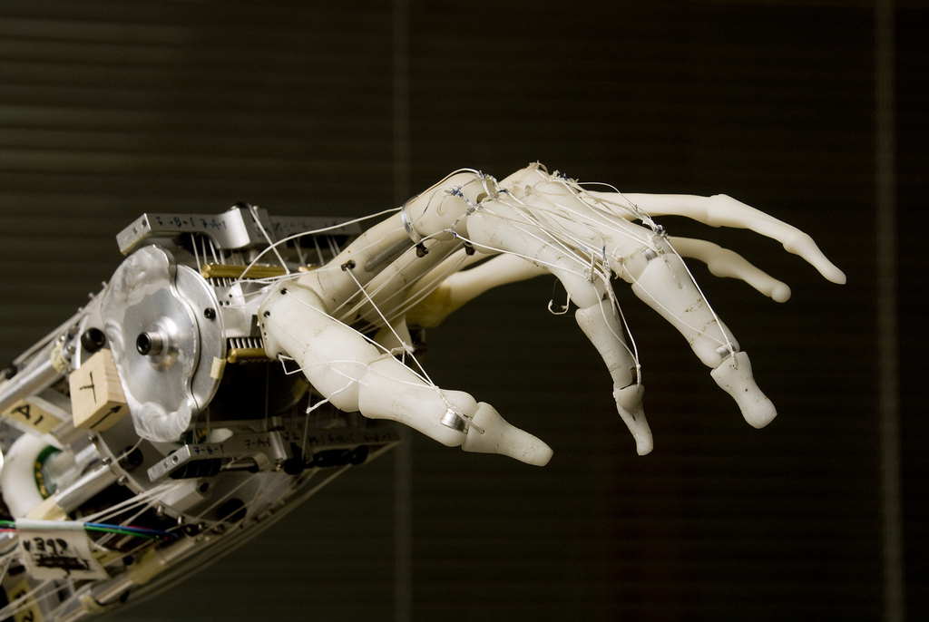 The Neurobotics Lab's prosthetic hand is a close replica of an actual human hand. Researchers are working to integrate it with the human nervous system. Credit: M. Levin, University of Washington