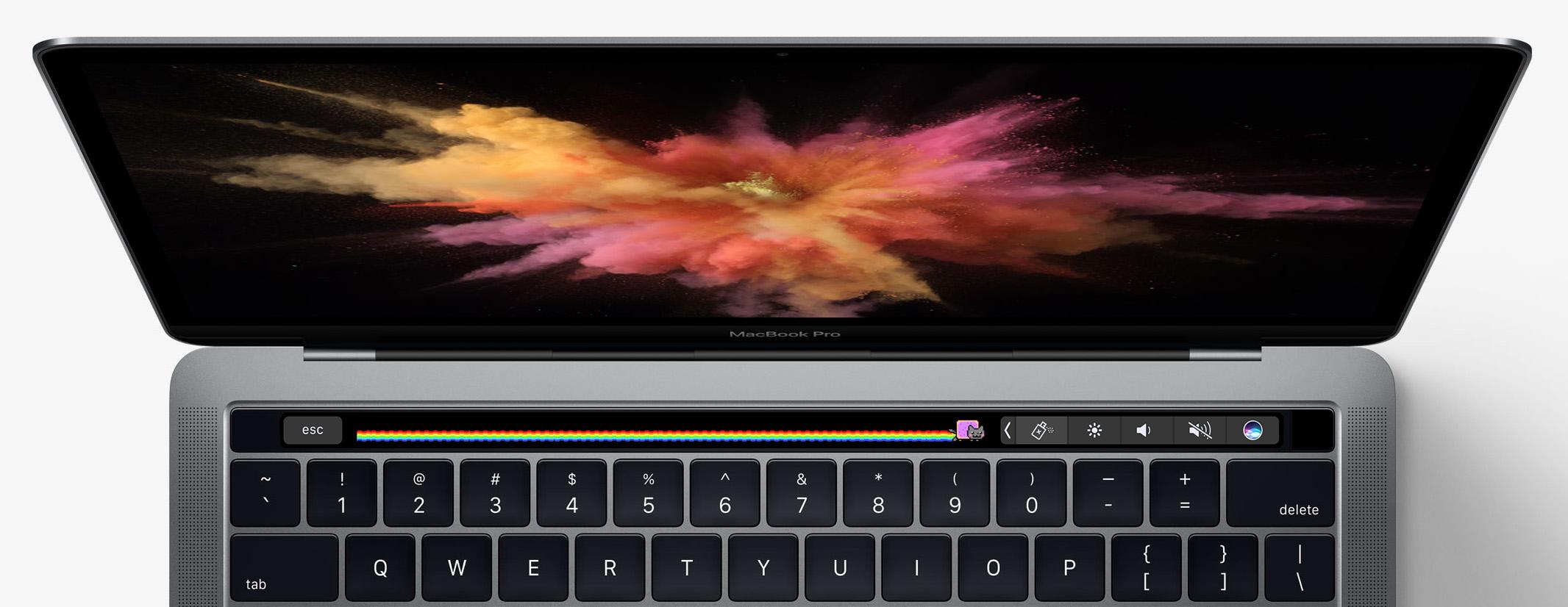 New MacBook Pro Touchbar justified