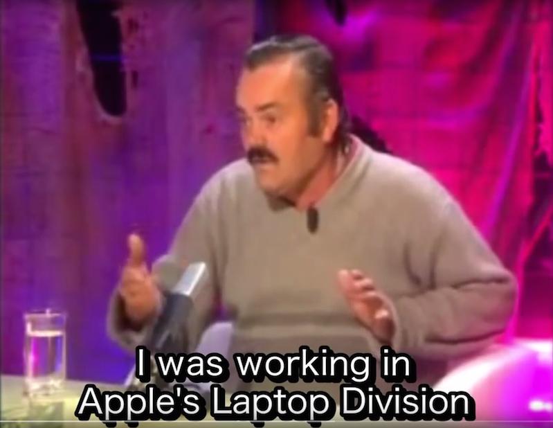 Apple Engineer El Risitas on the new 2016 Macbook Pro