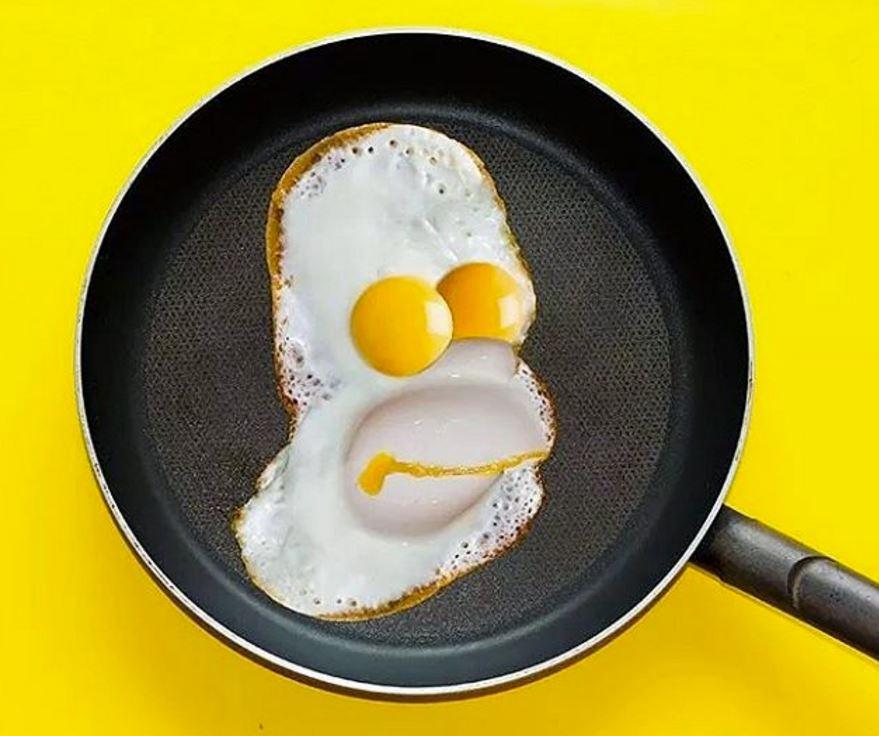 Homer Simpson Fried Egg Portrait Boing Boing