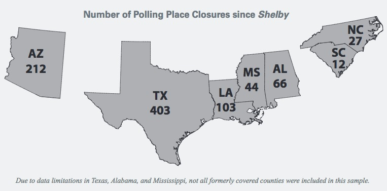 when the supreme court gutted the voting rights act it meant that the 2016 presidential race would be the first one in 50 years without the fundamental
