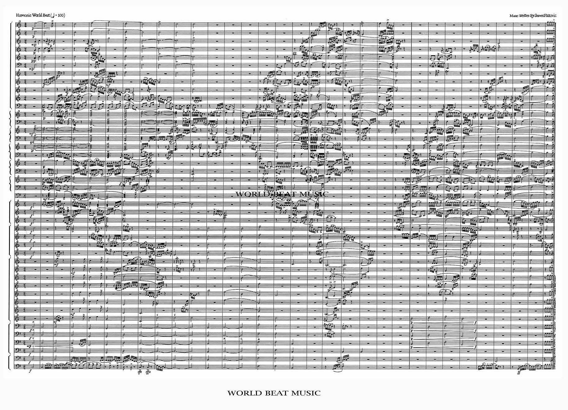 World Beat Music Map - Metsker Maps