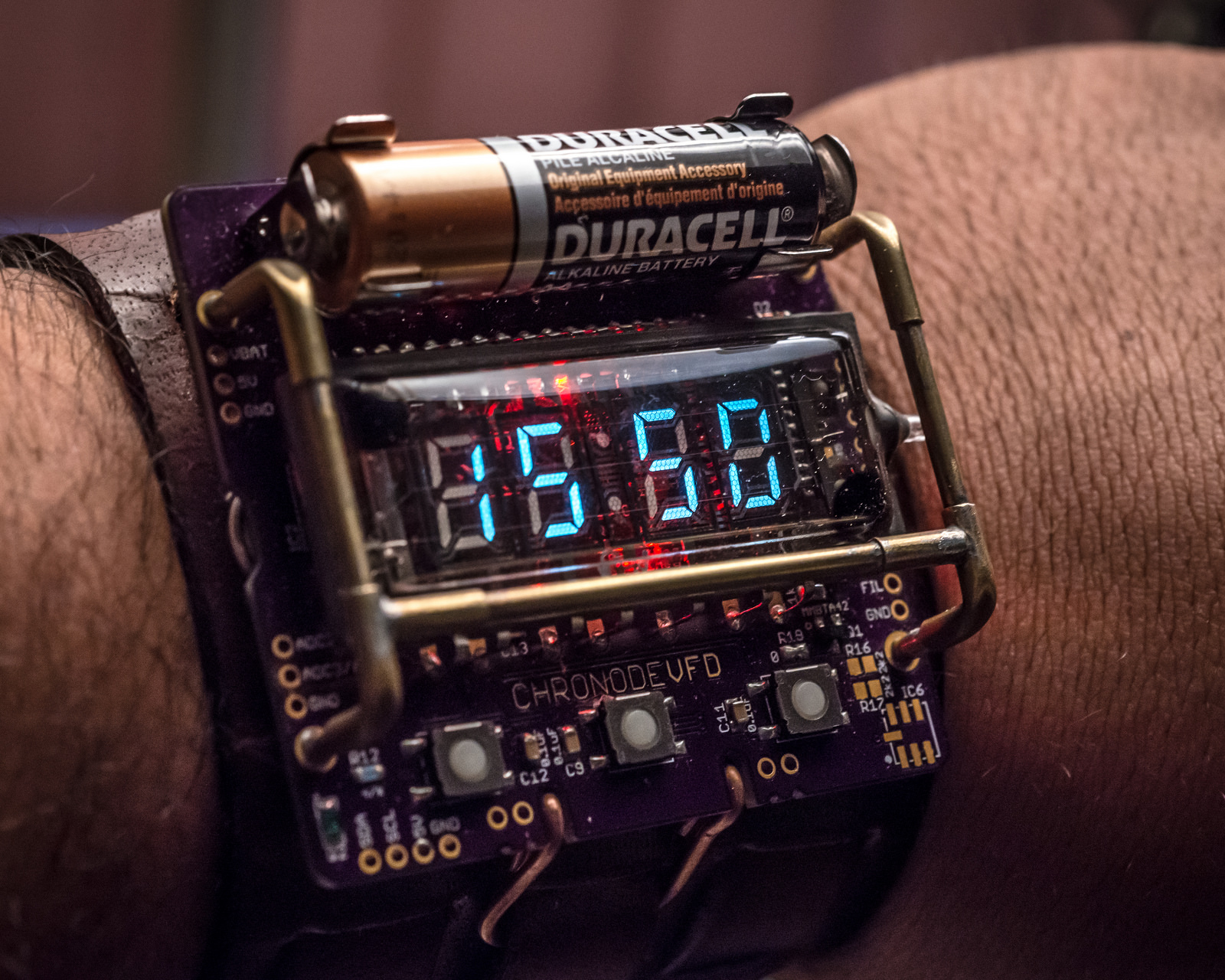 Cyber Steampunk Watch Built Around An Ex Soviet IVL2 7 5 VFD Display Tube