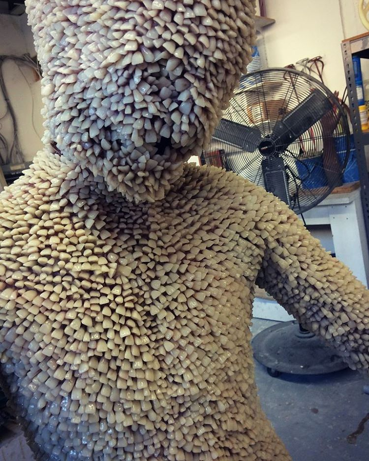 Full Body Costume Made Of Artificial Human Teeth Boing Boing
