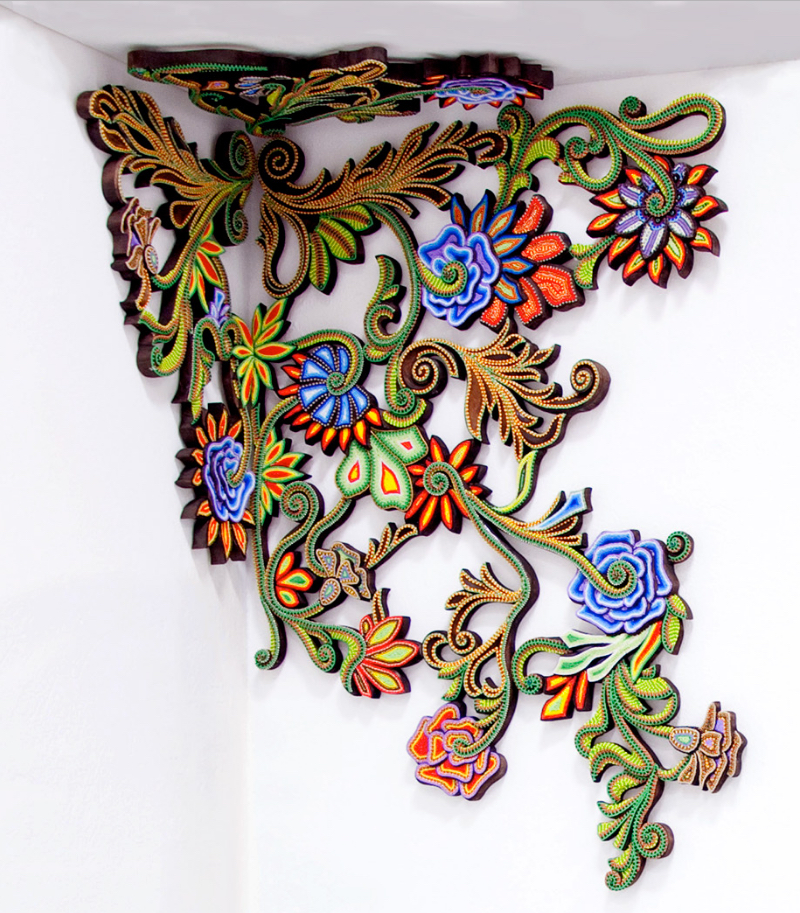 Beautiful Wood And Bead Wall And Ceiling Ornament Boing Boing