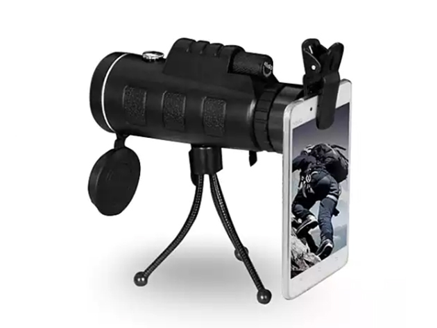 This monocular doubles as a powerful zoom lens for your smartphone