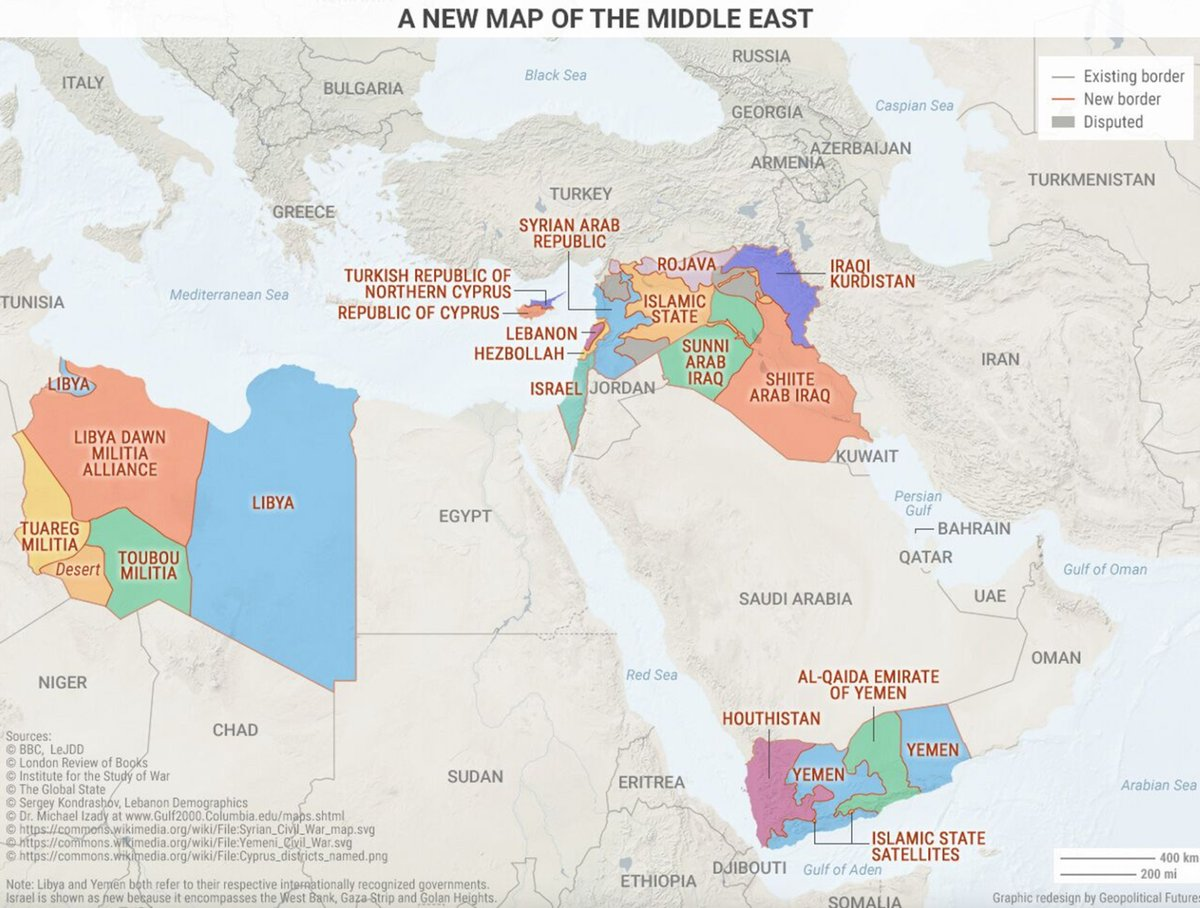 Map shows Middle East based on who actually holds territory ...