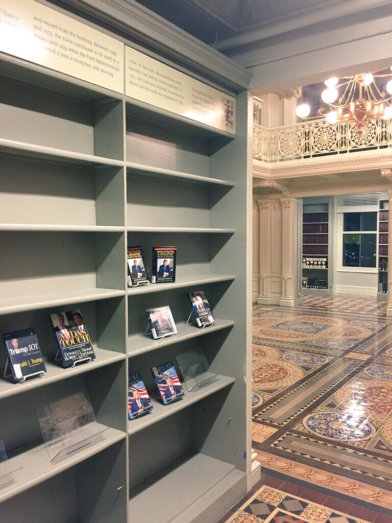 Trumps Bookcase Old State Department Library Boing