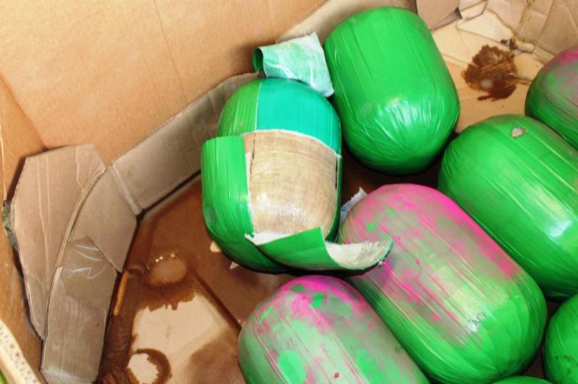 Customs officers not fooled by marijuana disguised as watermelons