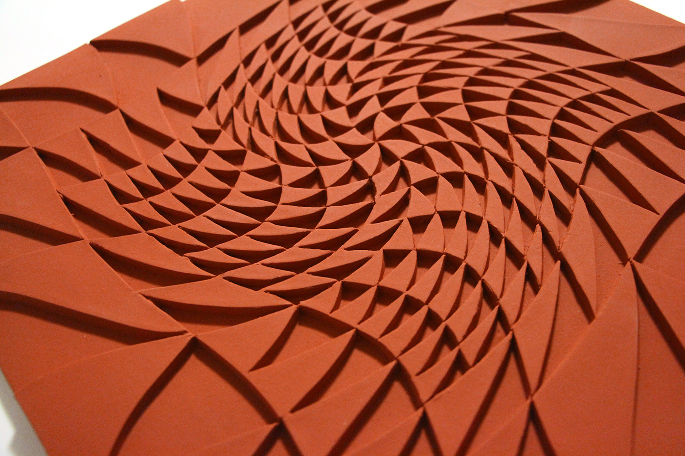 Check out these beautiful hand-cut ceramic tiles