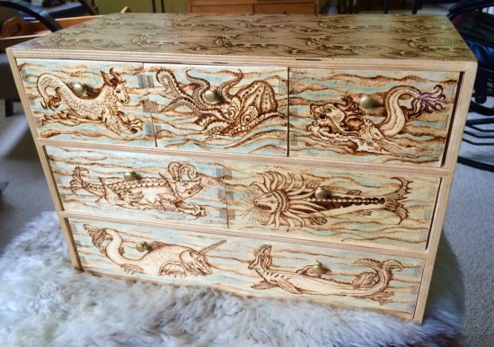 Here Be Dragons Thrifted Ikea Dresser Remade With