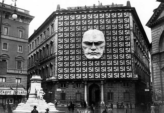 The headquarters of Mussolini's Italian Fascist Party, 1934