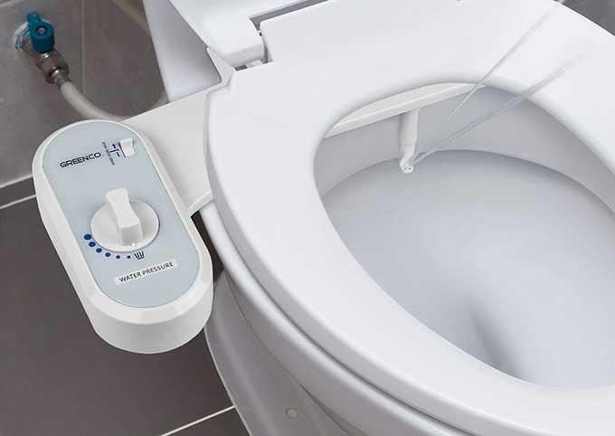japanese toilet with bidet.  Bidet kit for toilet just 22 Boing