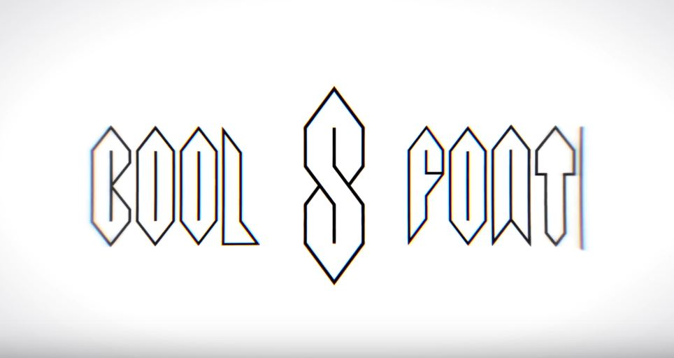 Font Based On The Cool S That Everyone Learns To Draw When They Are A Teenager Boing