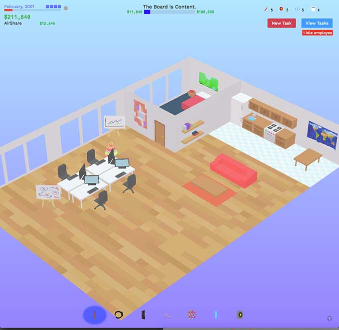 Play the founder a dystopian startup business simulation for Business simulator
