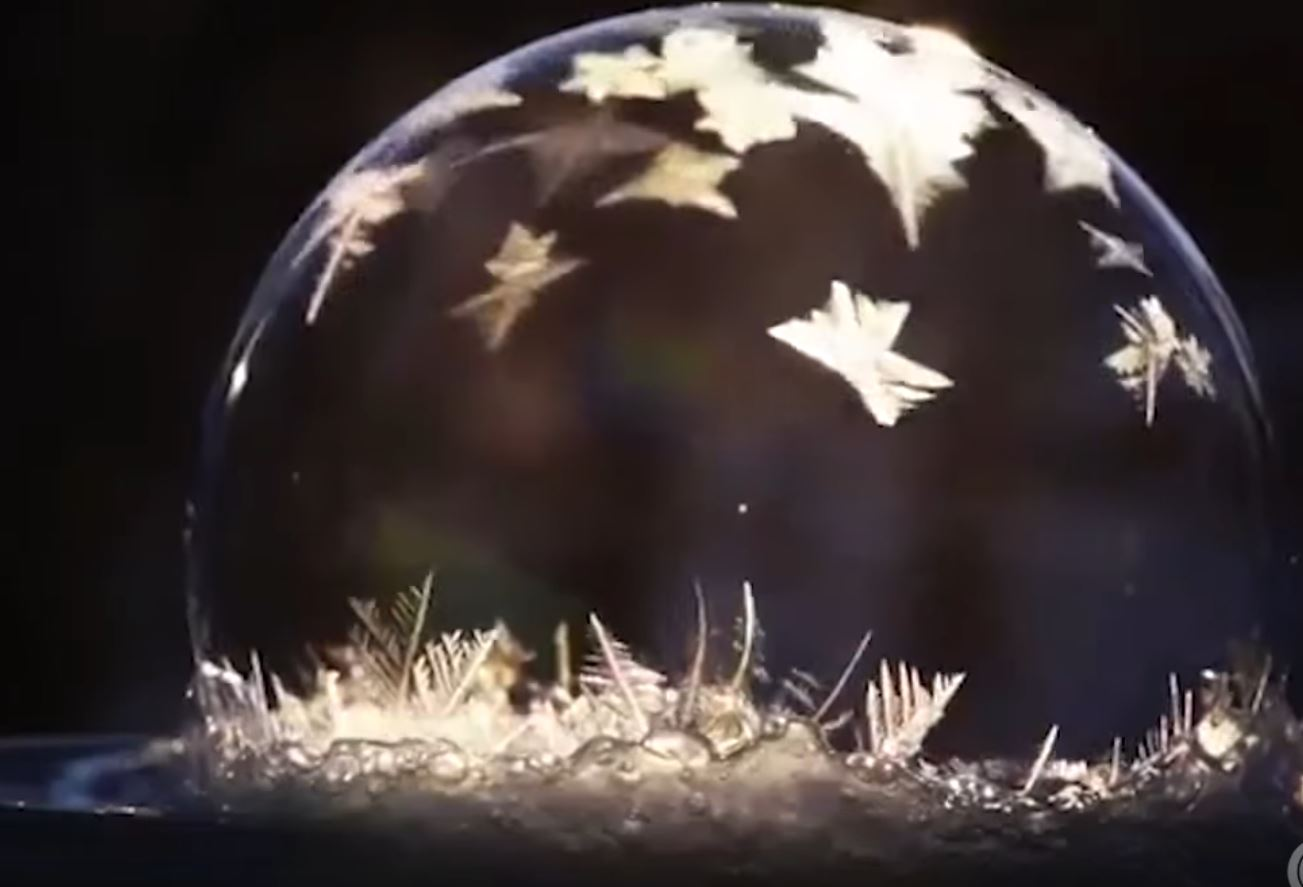 Beautiful Footage Of Soap Bubbles Freezing Boing Boing
