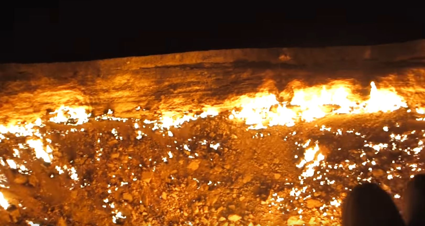 Man c&ed at Turkmenistan\u0027s \ Door to Hell\  and shot video of it & Man camped at Turkmenistan\u0027s \