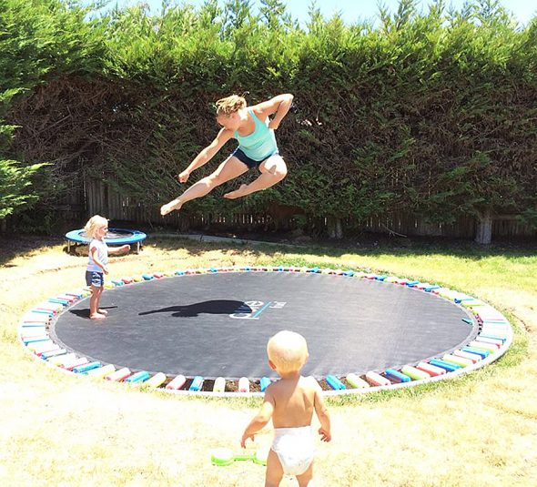 interesting in ground trampolines that are level with the grass boing boing. Black Bedroom Furniture Sets. Home Design Ideas