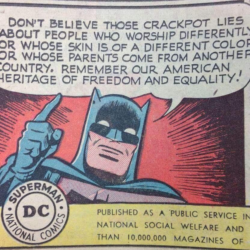 Batman's message to America