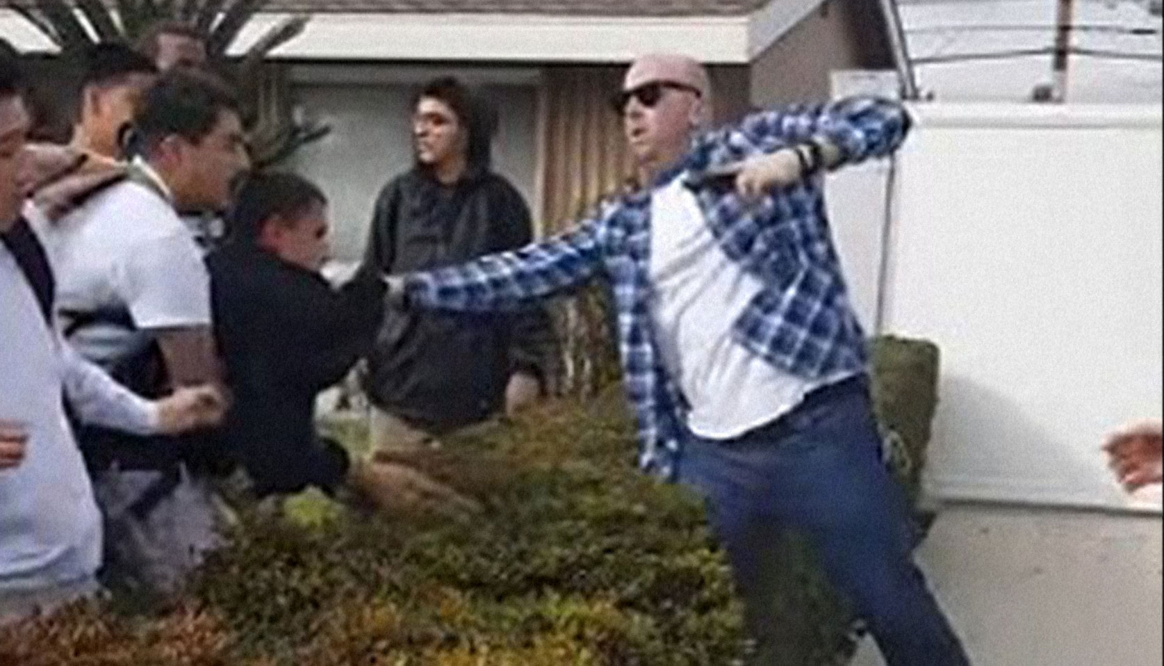 off duty cop drags kid into his yard draws and fires gun boing