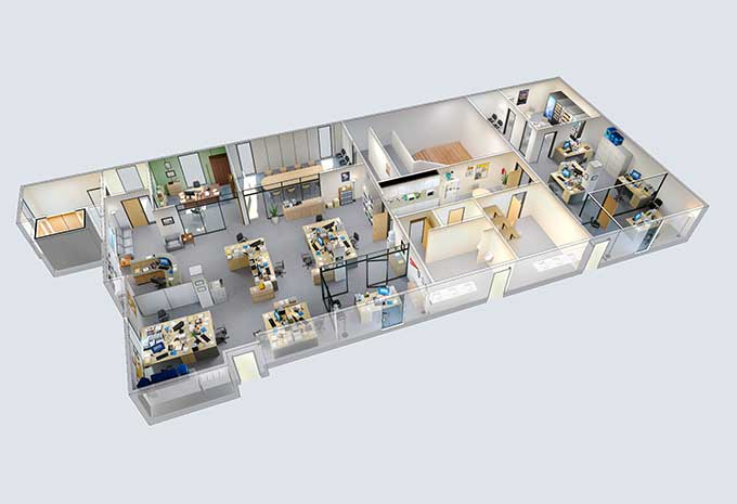 Explore this 3d model of dunder mifflin from the office for Interactive office floor plan