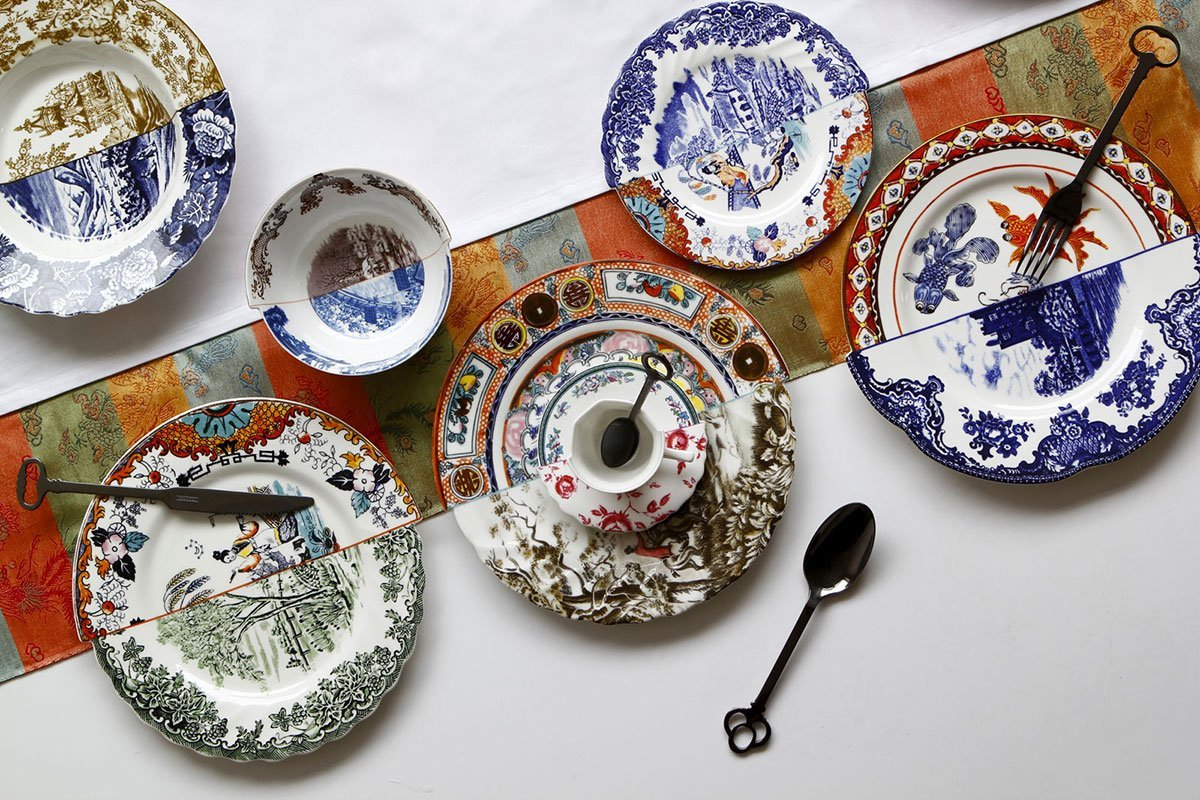 Chimeric china plates cups dishes and vases that mashup Chinese and European bone china & Chimeric china: plates cups dishes and vases that mashup Chinese ...