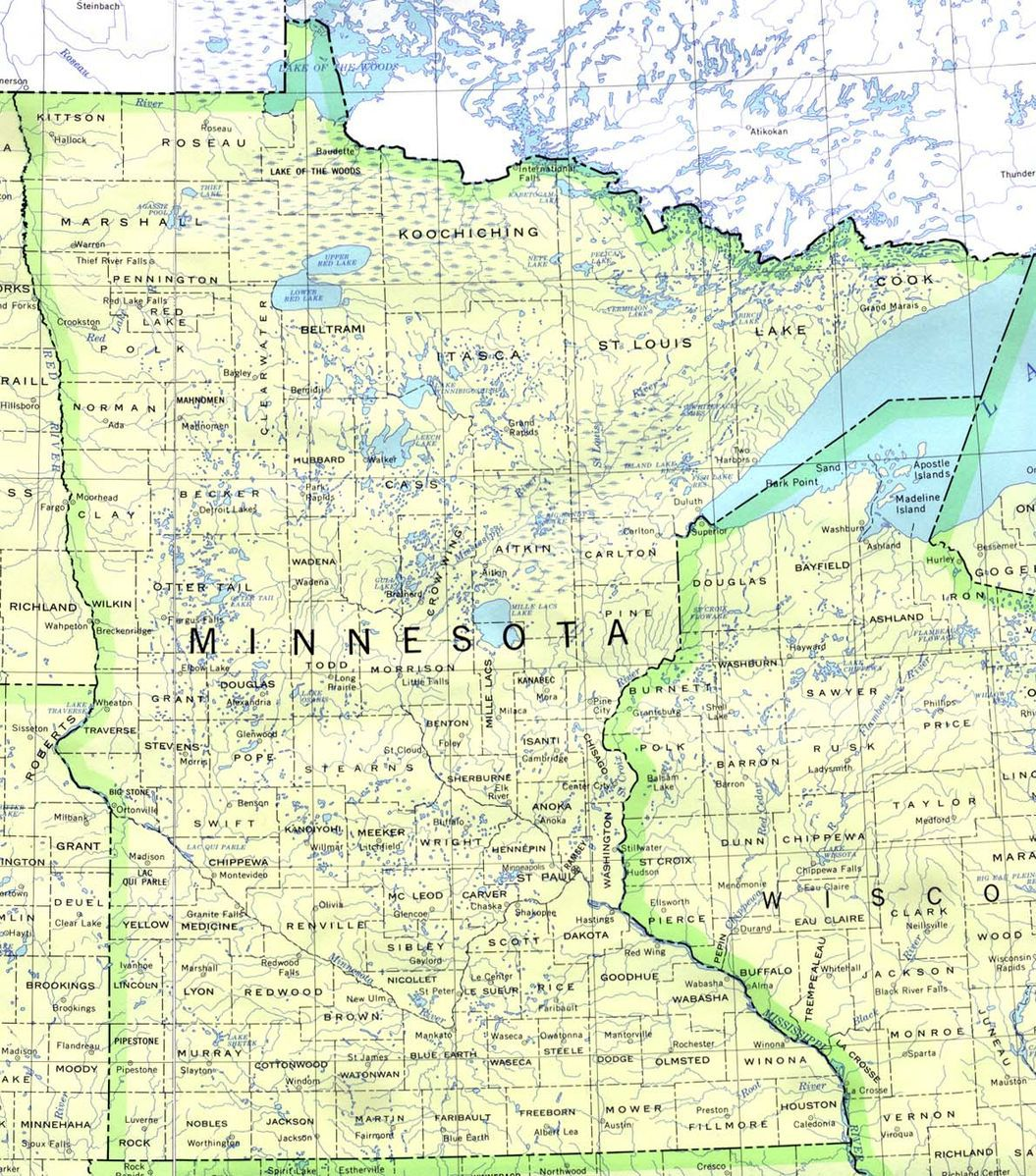 Road map detailed political map of wisconsin ezilon maps the minnesotan leftwing economic miracle continues while road map of wisconsin sciox Images