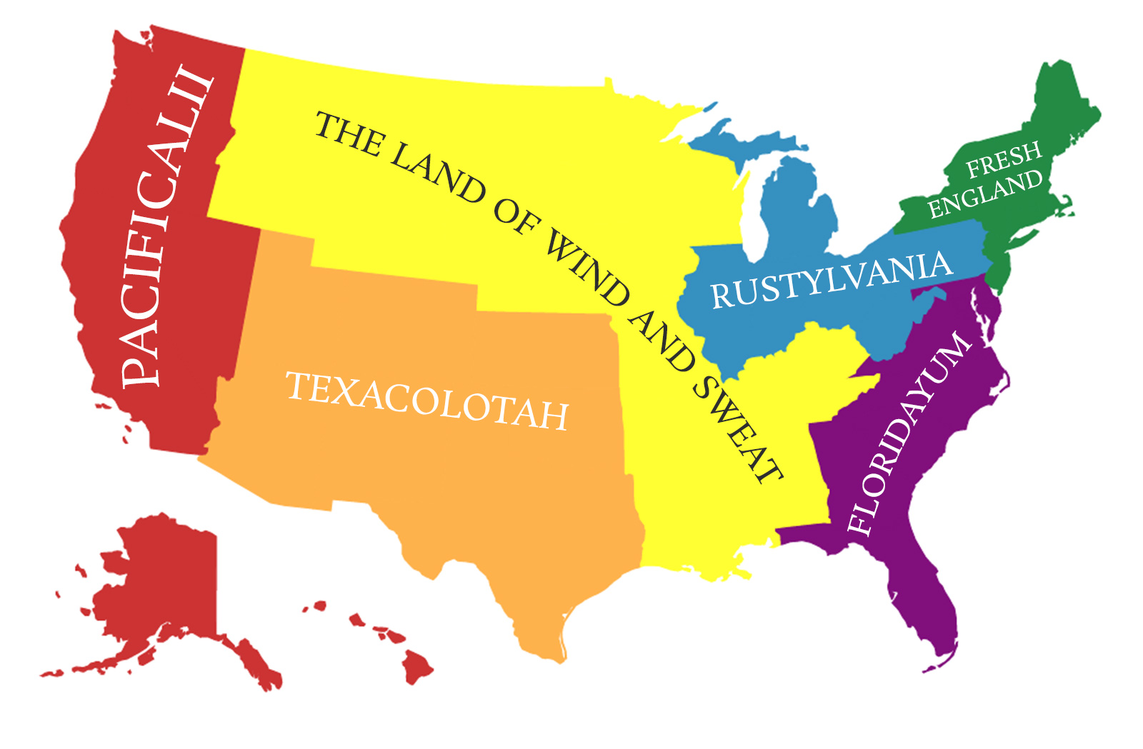 America Divided Into States With The Population Of England Boing Boing