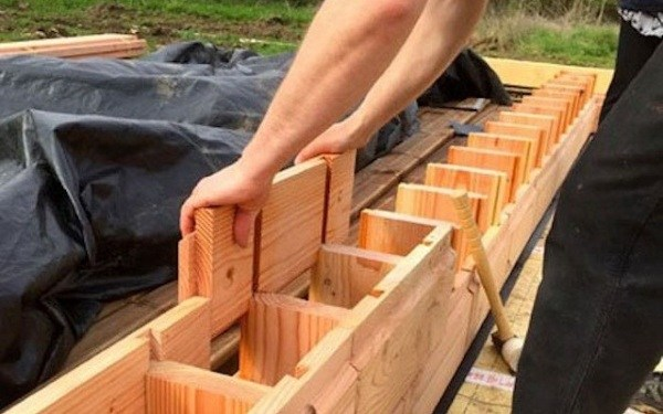 Interlocking Wood Bricks That Can Assemble Into A Nail