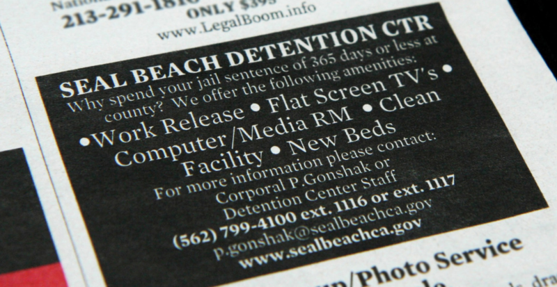 Orange County's Seal Beach jail offers posh, $100/day