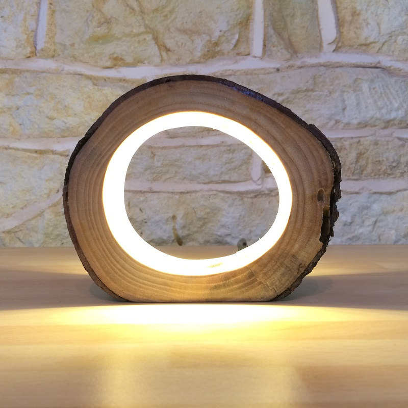 unique bedside lamps attractive led log light boing