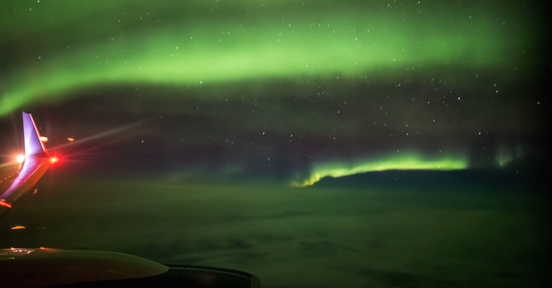 Passenger Shoots Northern Lights Timelapse On A Flight To