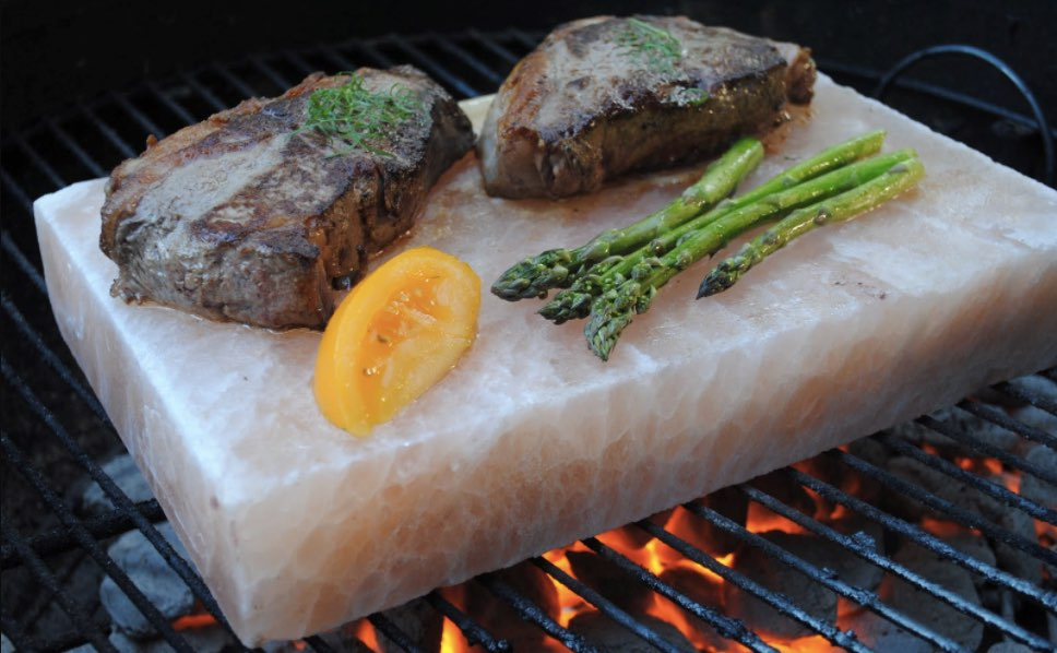 Barbecue your food on a thick slab of Himalayan salt