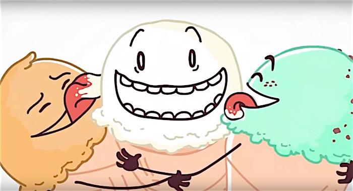 Ice cream cones have orgy in Bill Nye's cartoon that criticizes Christian dogma