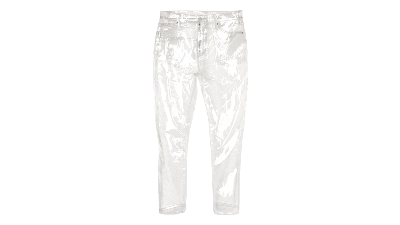 Clear plastic jeans