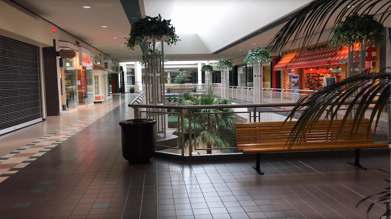 watch these soothing tours of barely open malls boing boing