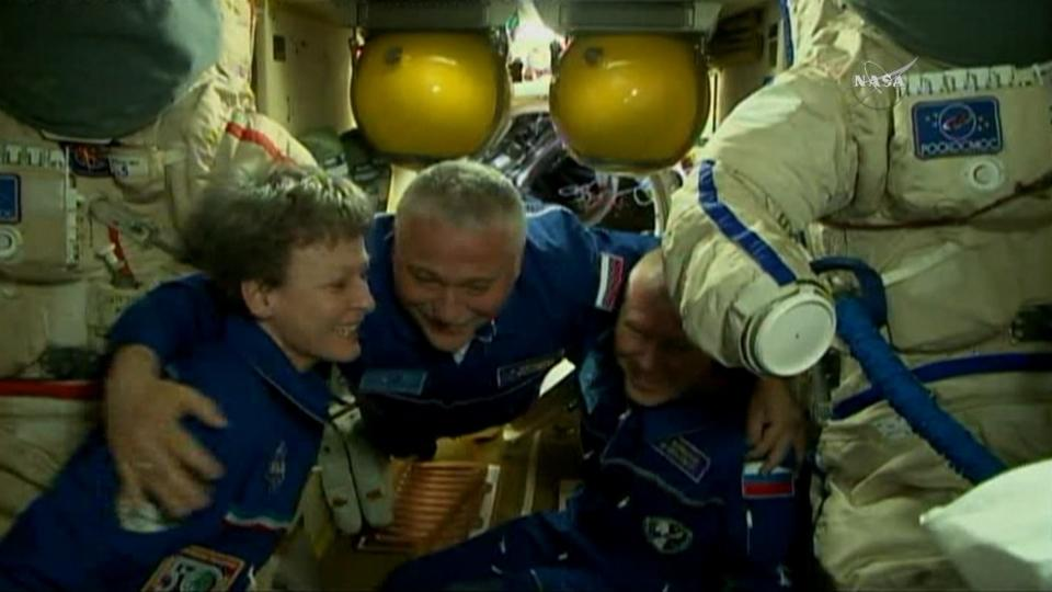 American, Russian arrive at International Space Station