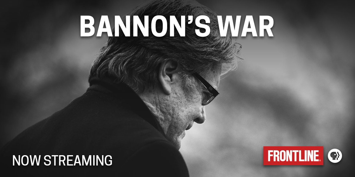 Watch: 'Bannon's War' on FRONTLINE (PBS)