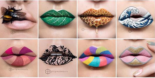 Gorgeous lip art elevates the lipstick game
