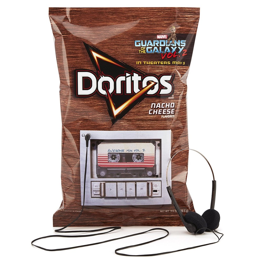 doritos sold a bag of chips with a semidisposable mp3