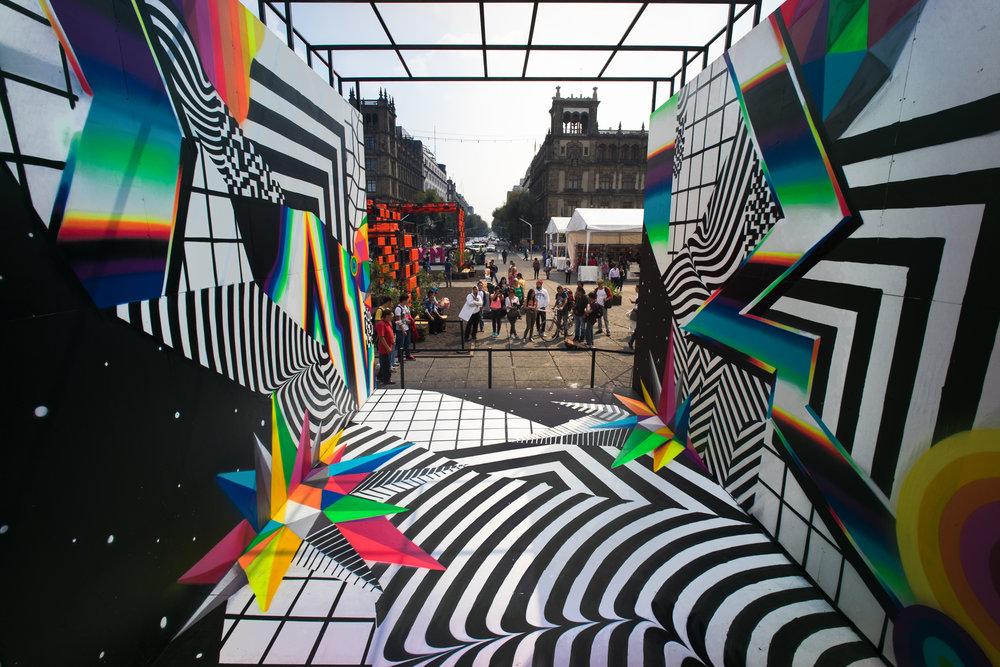 The glitched-out, large-scale murals of Felipe Pantone ... Felipe Pantone